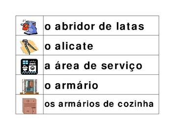 Casa (House in Portuguese) Word Wall