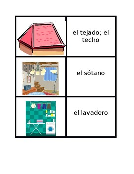 Casa (House in Spanish) games:  Concentration