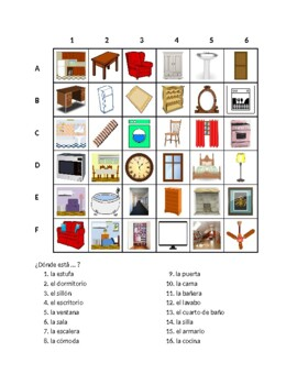 Casa (House in Spanish) Find it Worksheet