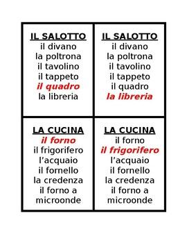 Casa e Mobili (House and Furniture in Italian) Gioco di sette Famiglie