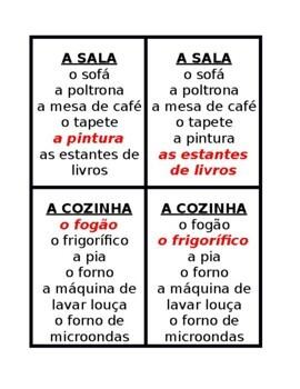 Casa e Mobiliário (House and Furniture in Portuguese) Jogo de sete famílias