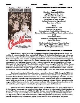 "an analysis of casablanca a film by michael curtiz ""casablanca"" was never a great film, never a profound film it's merely the most  beloved movie of all time in  workhorse michael curtiz, himself a refugee."