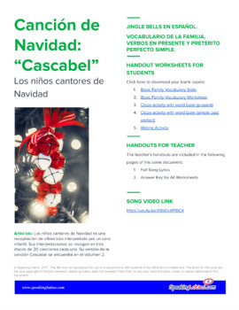 Cascabel: Spanish Song to Practice the Present, Preterite and Family Vocabulary