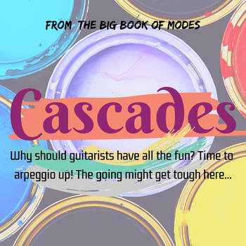 Cascades (The Big Book of Modes) (Original Composition with Colored Sheet Music)