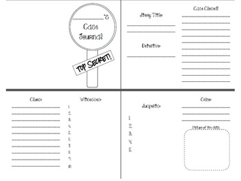 Case Journal: Organizer for Mystery Stories in Guided Reading Groups