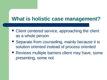 Case Management Training