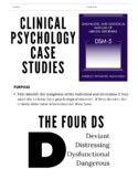 Case Studies | Abnormal Psychology *Editable