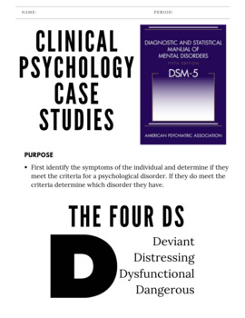 Case Studies Psychology Worksheets & Teaching Resources | TpT