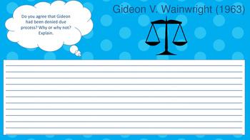 Case Study: Gideon v. Wainwright; New Jersey v. T.L.O.