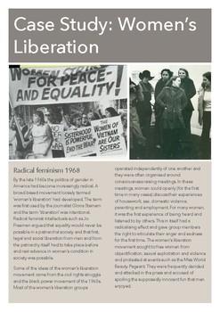 Case Study Guide: Women's Liberation (USA)