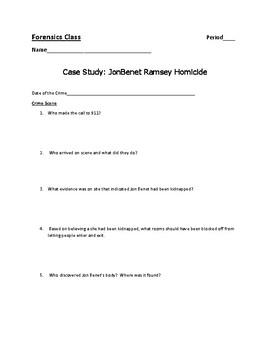 Case Study - JonBenet Ramsey Homicide