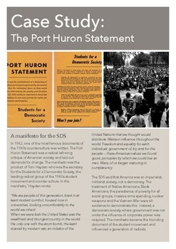 Case Study: The Port Huron Statement 1962