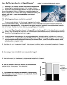 Case Study: Tibetans and High Altitudes (Key)