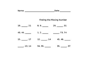 Case of The Missing Numbers