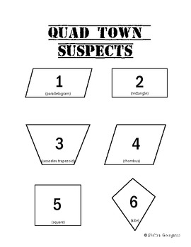 """Case of the Guilty Quadrilateral"" - Properties of Quadrilaterals Activity"