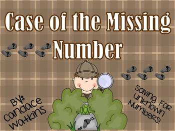 Case of the Missing Number: Solving for Unknown Numbers math centers