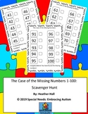 Case of the Missing Numbers 1-100: Scavenger Hunt