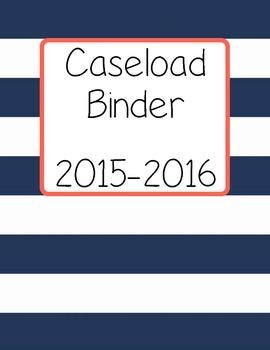 Caseload Binder Cover