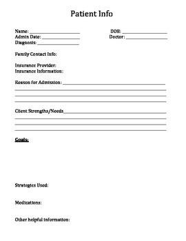 Caseload Information Sheets