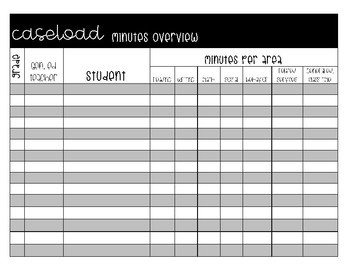 Caseload Minutes Overview