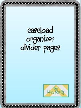 Caseload Organizer Divider Pages
