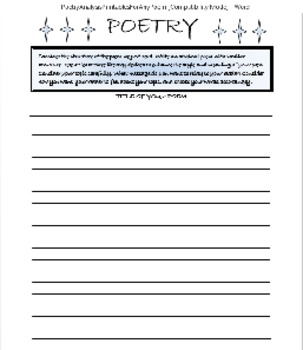 Casey At The Bat, Other Poetry Printables, 116 Pages