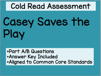 Casey Saves the Play Cold Read