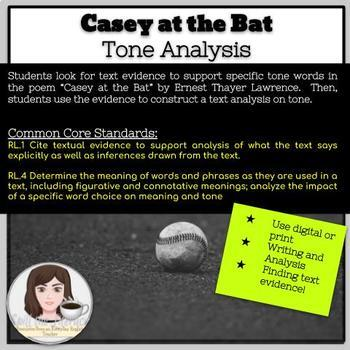 Casey at the Bat Tone Analysis