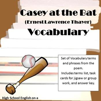 Casey at the Bat Vocabulary (E. Thayer)