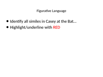 Casey at the Bat figurative language