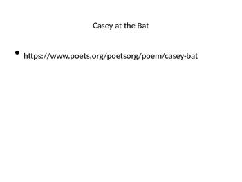 Casey at the Bat figurative language