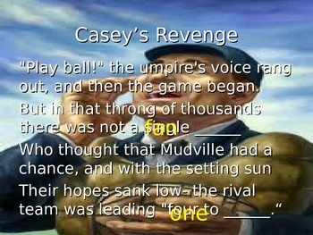 Casey's Revenge Power Point and Activity Packet