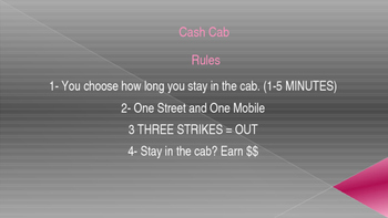 Cash Cab (Powerpoint Review) for Language Arts 7