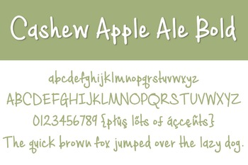 Cashew Apple Ale Bold Font for Commercial Use