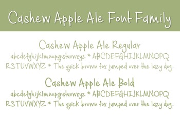 Cashew Apple Ale Font Family for Commercial Use