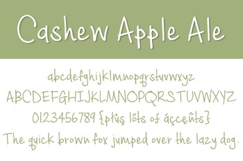 Cashew Apple Ale Font for Commercial Use