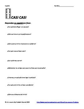 """Casi Casi"" Movie Vocabulary and Activities"