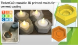 TinkerCAD reusable 3D printed mold for cement casting Dist