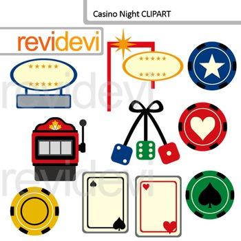 Casino Night Digital Clip art - Vegas Clipart