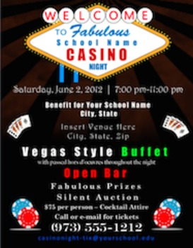 Casino Night Promotion Package for Fundraising