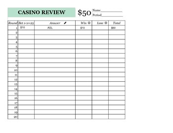 Casino Review Game