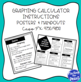 Casio Graphing Calculator Instructions Posters and Handout (Casio FX 9750/9850)