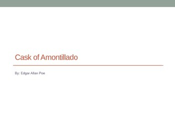 Cask of Amontillado Background PPT