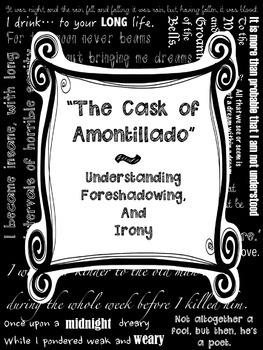 Cask of Amontillado Foreshadowing Irony Poe