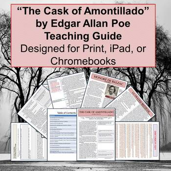 Cask of Amontillado Guided Reader and Teaching Unit for Chromebooks and iPads