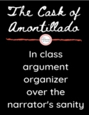 Cask of Amontillado- In class Argument/Debate - Textual Evidence