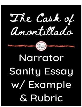 """""""The Cask of Amontillado""""- Narrator Sanity Essay"""