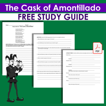 """Cask of Amontillado"" Study Guide & William Blake's ""A Poison Tree"" QuickWrite"