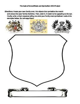Cask of Amontillado Symbolism Activity
