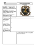 Cask of Amontillado Symbolism Worksheet